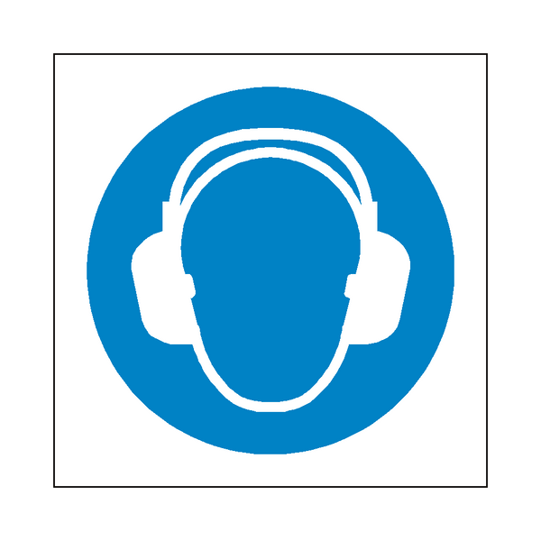 Wear Ear Protection Symbol Sign | Safety-Label.co.uk