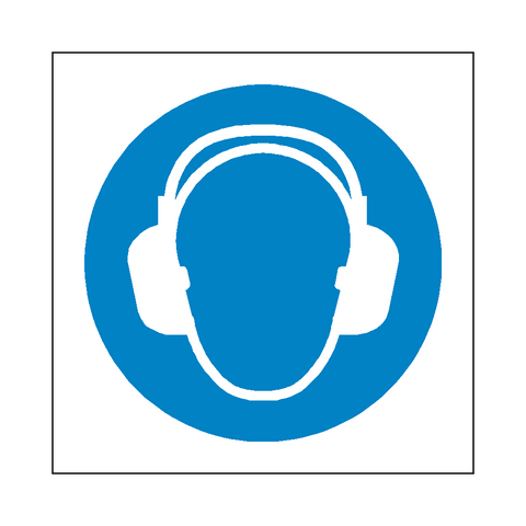 Wear Ear Protection Symbol Sign - Safety-Label.co.uk