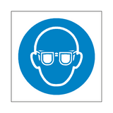 Wear Eye Protection Symbol Sign | Safety-Label.co.uk