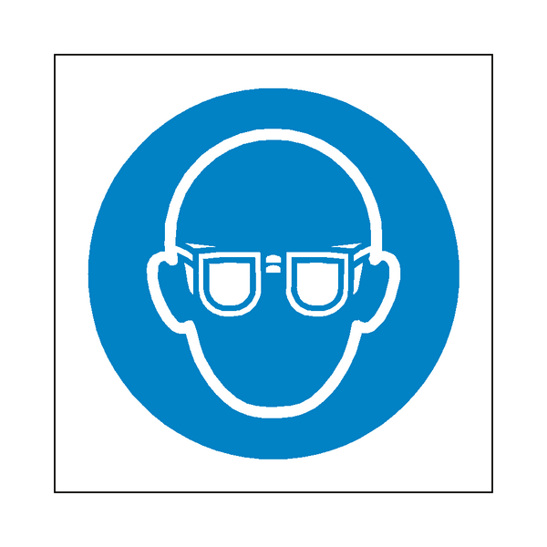 Wear Eye Protection Symbol Sign - Safety-Label.co.uk