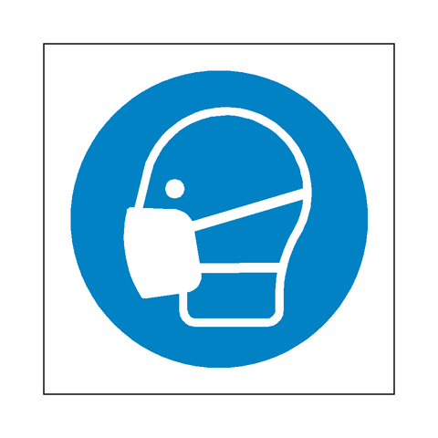 Wear Facemask Symbol Sign - Safety-Label.co.uk