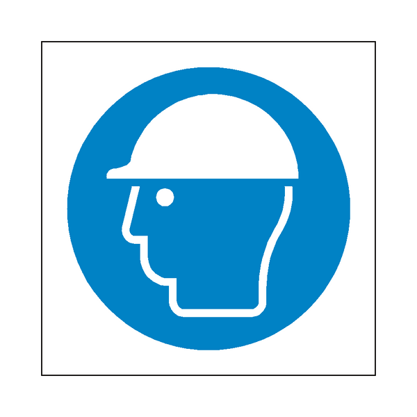 Wear Hard Hat Symbol Sign - Safety-Label.co.uk
