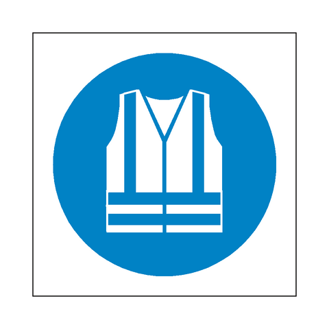 Wear Hi-Viz Symbol Sign - Safety-Label.co.uk
