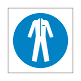 Wear Protective Clothing Symbol Sign | Safety-Label.co.uk
