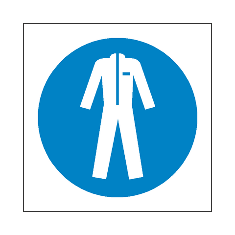 Wear Protective Clothing Symbol Sign - Safety-Label.co.uk