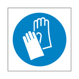Wear Protective Gloves Symbol Sign | Safety-Label.co.uk