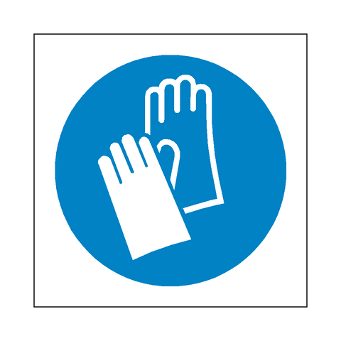 Wear Protective Gloves Symbol Sign - Safety-Label.co.uk