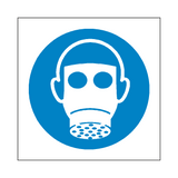 Wear Respiratory Protection Symbol Sign - Safety-Label.co.uk