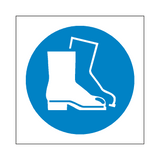 Wear Safety Footwear Symbol Sign | Safety-Label.co.uk