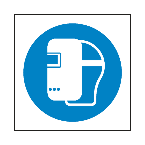 Wear Welding Mask Symbol Sign - Safety-Label.co.uk
