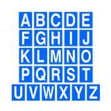 Blue Alphabet Letter Sticker Pack | Safety-Label.co.uk