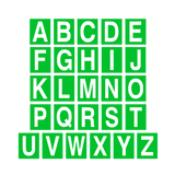 Green Alphabet Letter Sticker Pack | Safety-Label.co.uk
