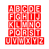 Red Alphabet Letter Sticker Pack | Safety-Label.co.uk