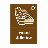 Wood and Timber Waste Sticker | Safety-Label.co.uk