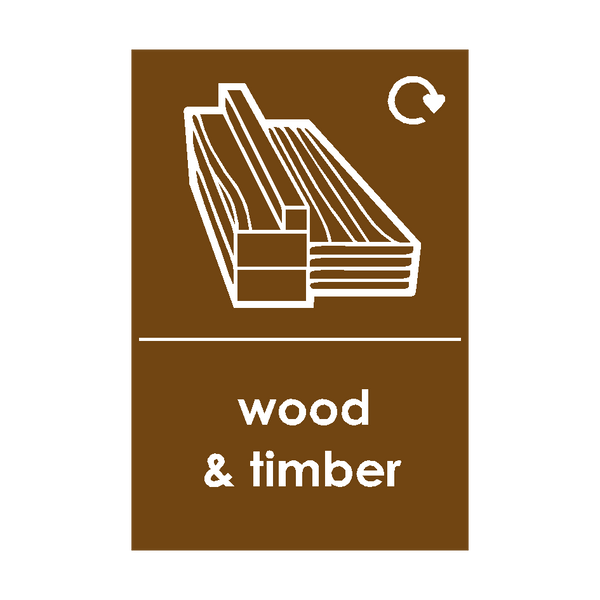 Wood and Timber Waste Sticker - Safety-Label.co.uk