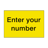 Yellow Custom Number Sticker | Safety-Label.co.uk