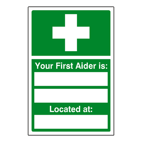 First Aider Sticker - Safety-Label.co.uk