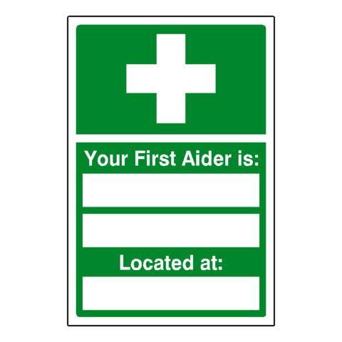 First Aider Sign - Safety-Label.co.uk