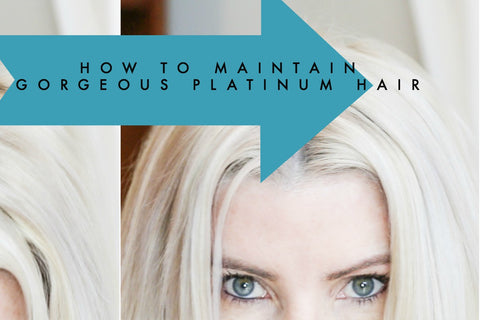 how to maintain platinum blonde hair at home