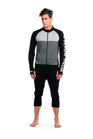 Supermons 3/4 One Piece - Black / Grey Marl / Charcoal