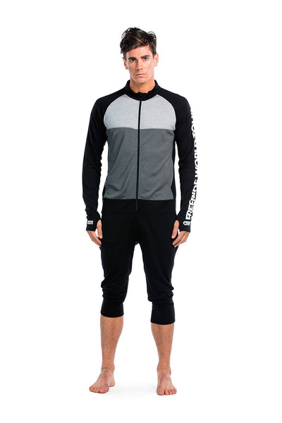 Supermons 3/4 One Piece FWT - Black / Grey Marl / Charcoal