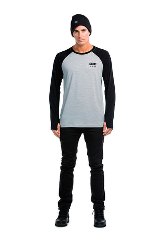 Coreshot Raglan LS - Black / Grey Marl
