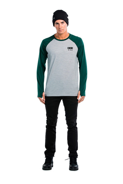 Coreshot Raglan LS - Green / Grey Marl