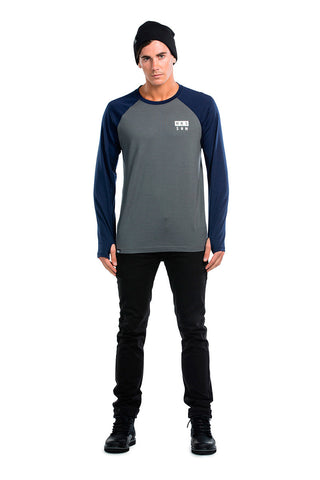 Coreshot Raglan LS - Navy / Charcoal