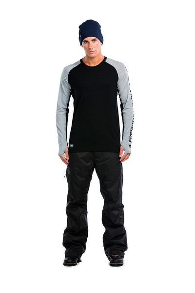 Temple Tech LS FWT - Black / Grey Marl