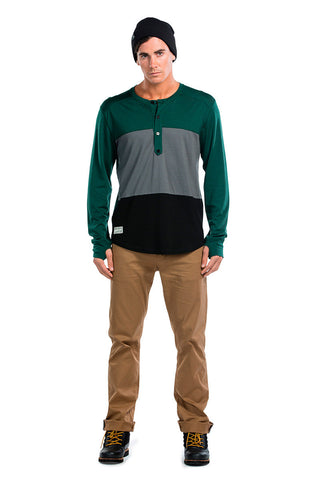1961 Henley LS - Green / Charcoal / Black