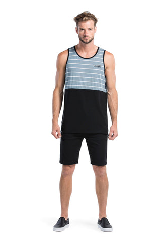 Bruce Singlet Box Logo - BT Lead Stripe / Black