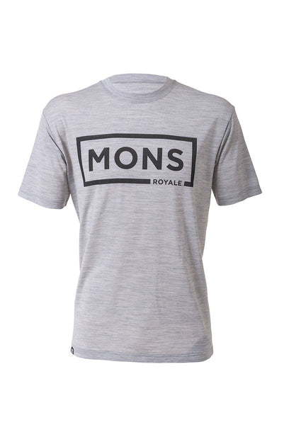 Icon T-Shirt Box Logo - Grey Marl