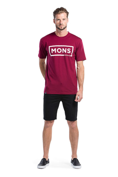 Icon T-Shirt Box Logo - Plum