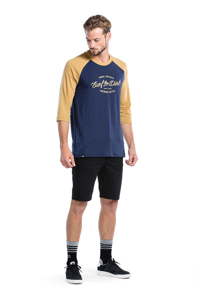 Redwood 3/4 Raglan T Dirt - Navy / Desert