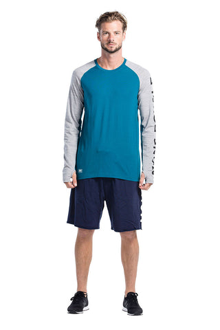 Temple Tech LS Geo - Blue Steel / Grey Marl