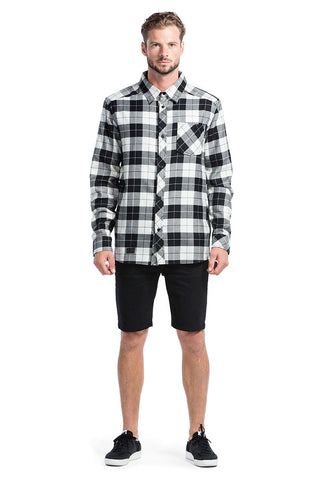 Jackson Flannel Shirt - Black / White