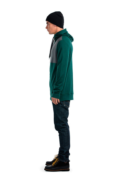 Mid-Hit Hoody AW16 - Green / Charcoal
