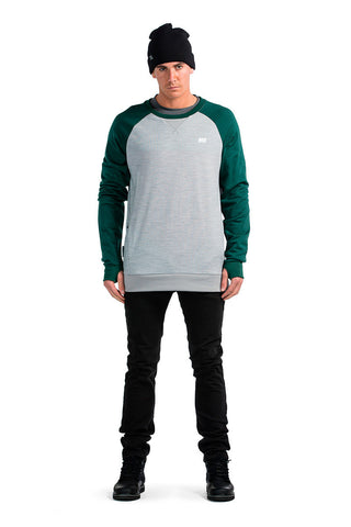 Covert Tech Sweat - Green / Grey Marl