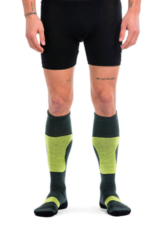 Pro Lite Tech Sock - Charcoal / Black / Lime