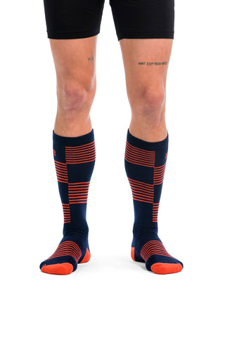 Lift Access Sock - Navy / Spice