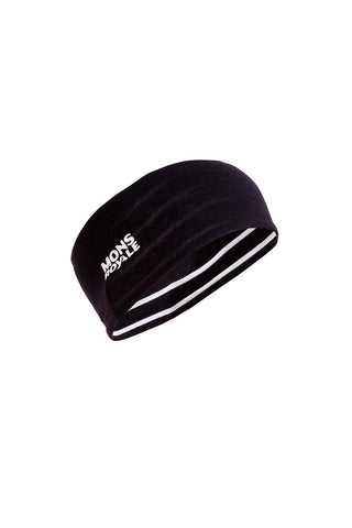 Revy Reversible Headband  - Stripes / Black