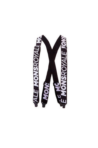 Afterbang Suspenders - Black / White
