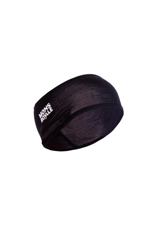 Last Lap Headband w/Ponytail Hole - Black