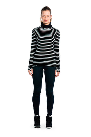 Cornice Rollover LS - Stripes / Black