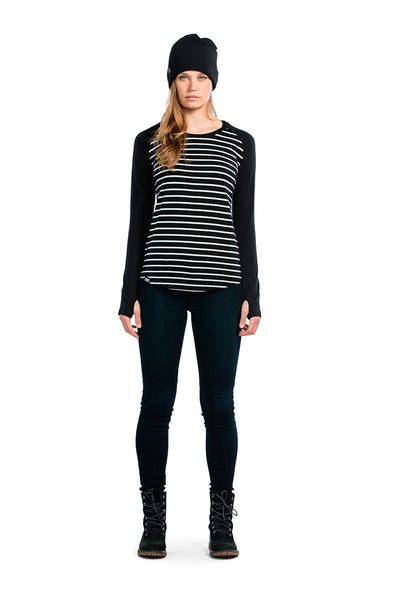 Rocker Raglan LS - Stripes / Black