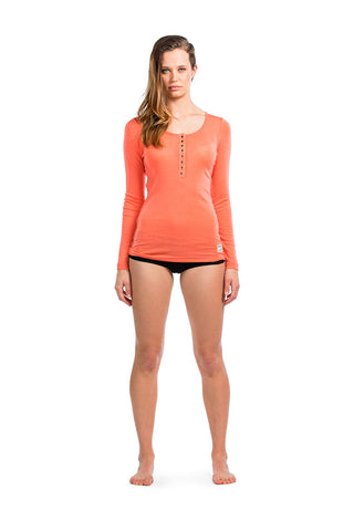 Pop Pop Top LS - Coral