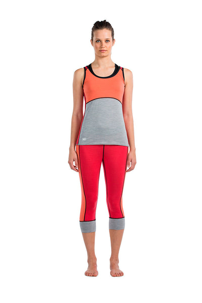 Bella Coola Tech Tank - Pink / Coral / Grey Marl