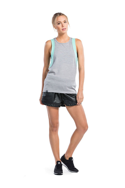 Kasey Relaxed Tank Mesh - Grey Marl / Peppermint