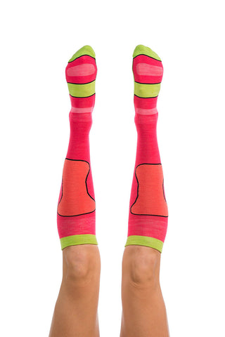 Pro Lite Tech Sock - Pink / Coral / Lime