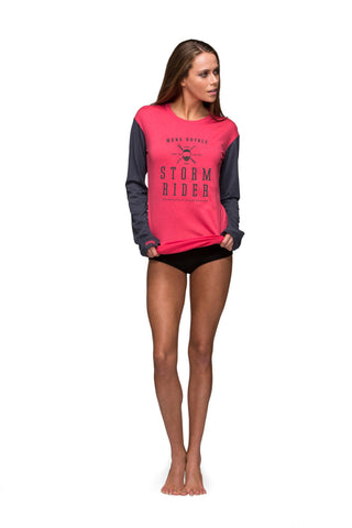 Boyfriend LS - Hot Pink / Charcoal